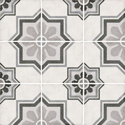 Art Nouveau Capitol Grey 20 x 20cm