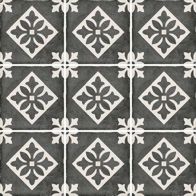 Art Nouveau Padua Black 20 x 20cm