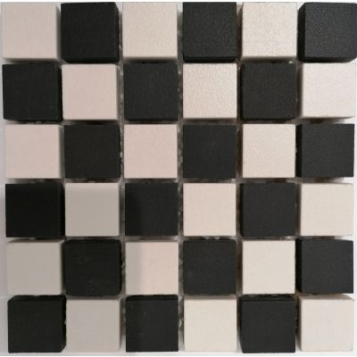 Black & White Mix Matt Mosaic 30 x 30cm