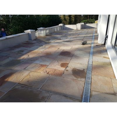 Buff Sandstone Paver Un-Calibrated 56cm x free lengths