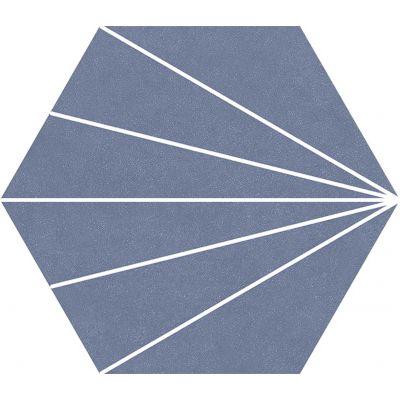 Compostela Hex Azul 22.5 x 25.9cm