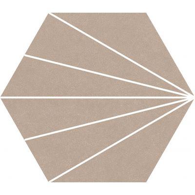 Compostela Hex Taupe 22.5 x 25.9cm