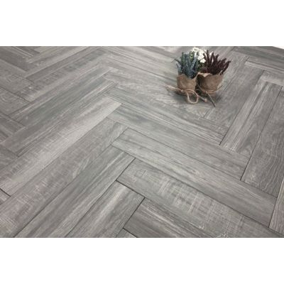 Cracovia Gris Wood Effect Herringbone