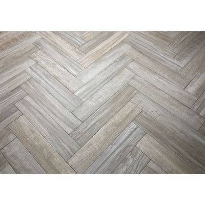 Cracovia Taupe Wood Effect Herringbone