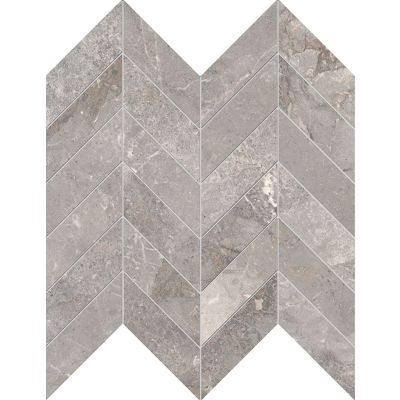 Golden Age Grey Chevron Mosaic 30x30cm