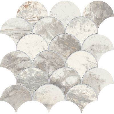 Golden Age White Shell Mosaic 30x30cm