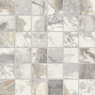 Golden Age White Square Mosaic 30x30cm