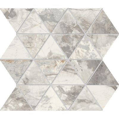 Golden Age White Triangolo Mosaic 30x30cm