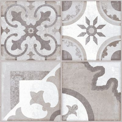 Hydraulic Gris Pattern Floor Tile  41x41cm