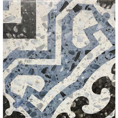 Lido Blue Pattern Tile 20 x 20cm