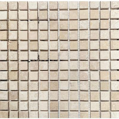 Light Travertine Tumbled Mosaic 30 x 30cm