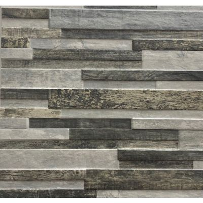 Maine Antracita - Stone Effect 3D Tile  17 x 52cm