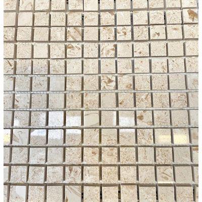 Myra Beige Polished Mosaic 30 x 30cm