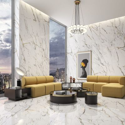Oikos Gold Super Glossy Polished Porcelain  120 x 120cm