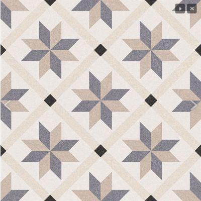 Palermo 22 Bea Pattern Tile 22.5 x 22.5cm