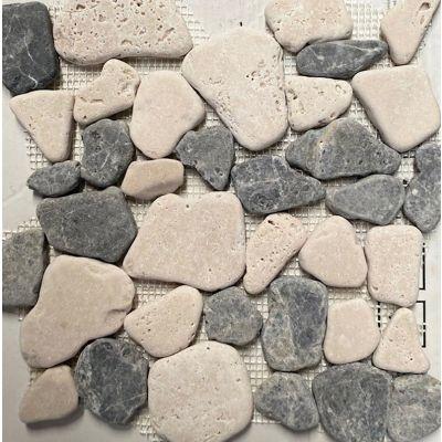Pebbles Marble Mosaic - Dark Emperador 26 x 27cm