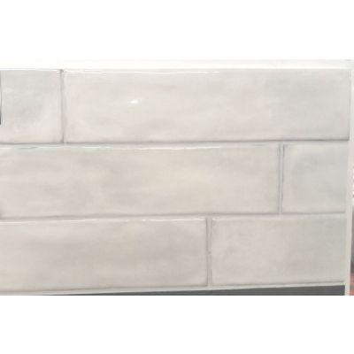 Splendours White - Light Grey (Crackle Glaze) 7.5 x 30cm