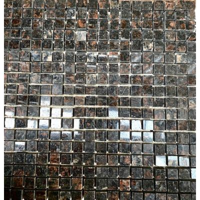 Tan Black Granite Mosaic 30 x 30cm