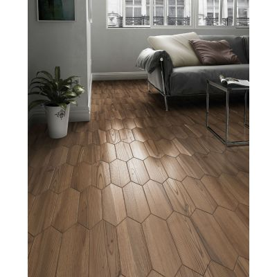 Woodland Losanga Honey Wood Effect Tile 10 x 29.9cm.